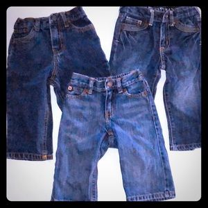 Infant blue jeans- lot of 3